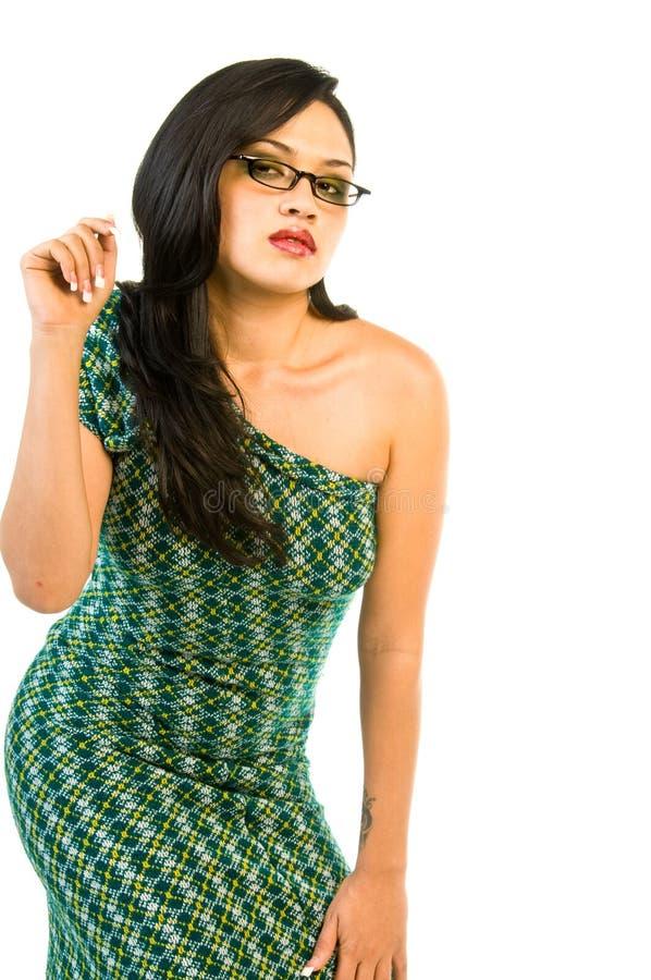 Beauté en rétro vert photo stock