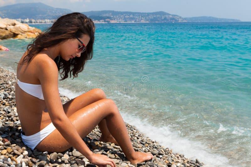 Beauté en Riviera image libre de droits