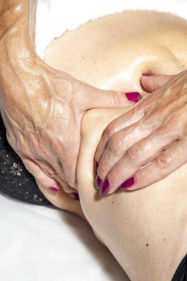 Beauté et anti massage de cellulites images libres de droits