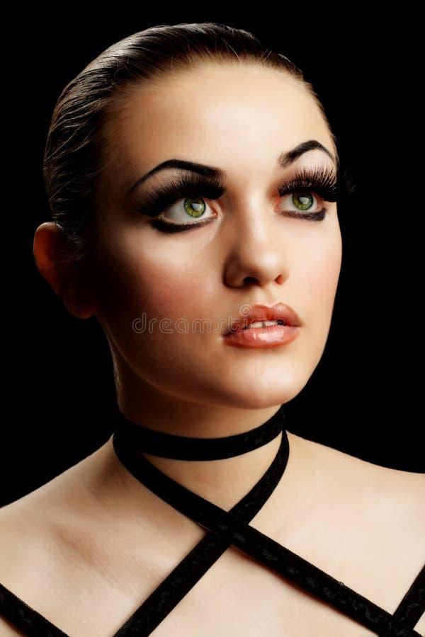 Beauté et cils faux photos libres de droits