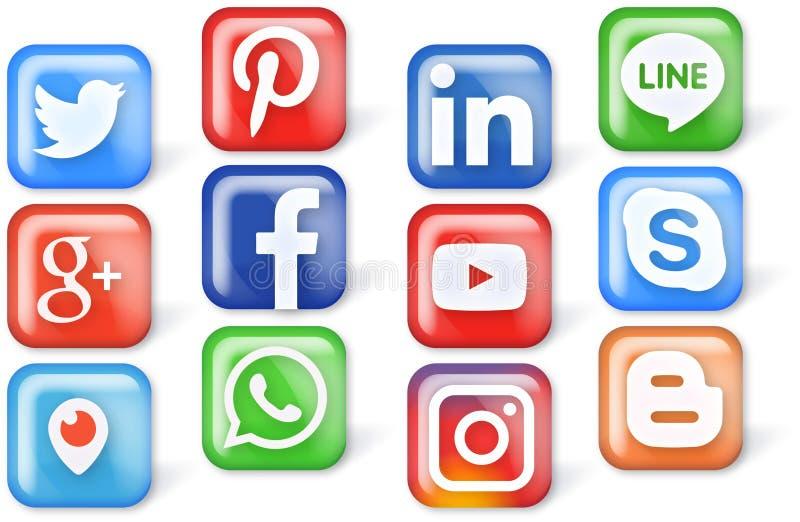 beauté et icônes colorées pour le Web et les apps photo libre de droits