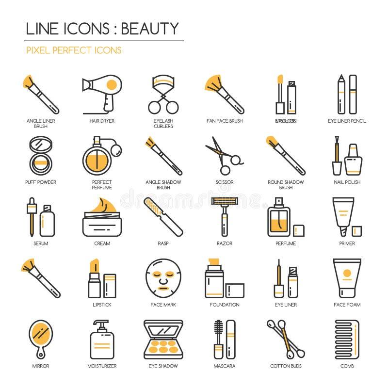 Beauté, icône parfaite de pixel illustration stock