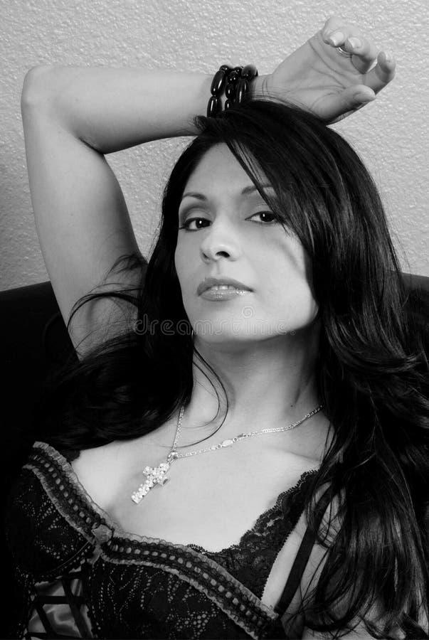 Beauté latine sexy photo stock