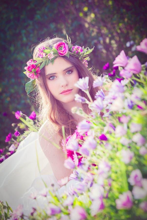 Beauté naturelle, fée de fleur photo stock