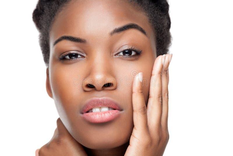 Beauté noire avec la peau parfaite images libres de droits