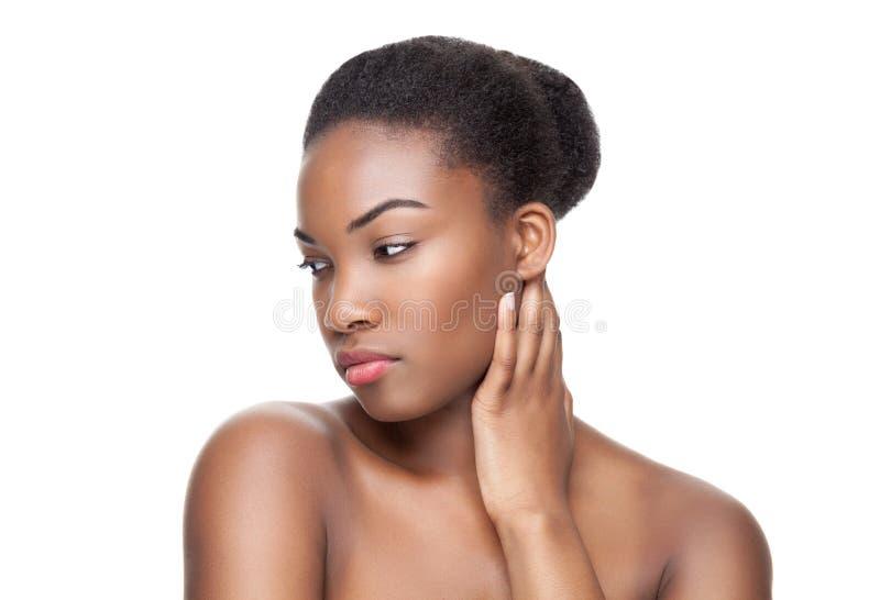Beauté noire avec la peau parfaite photo libre de droits