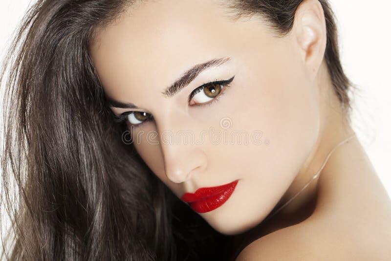 Beauté rouge de languettes image stock