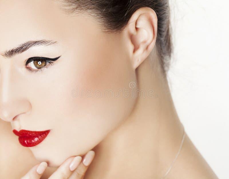 Beauté rouge de languettes images stock