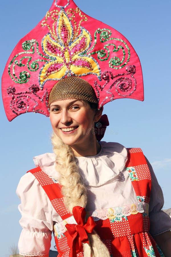 Beauté russe de sourire image libre de droits