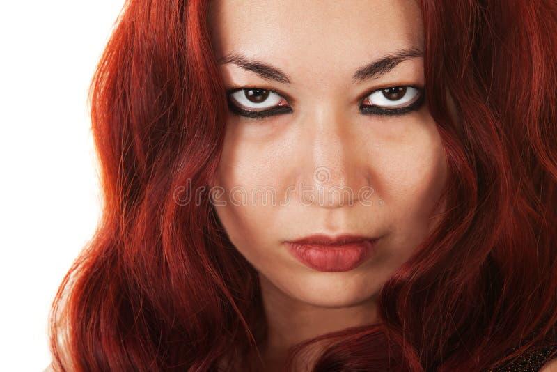 Beauté sérieuse de Latina images libres de droits