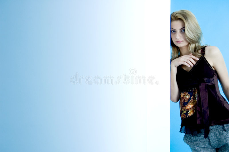 Beauté sur le bleu 17 image stock