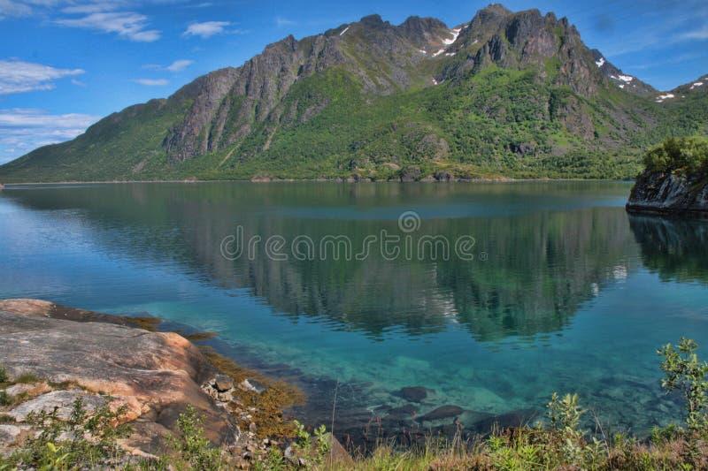 Beautés de la côte norvégienne images stock