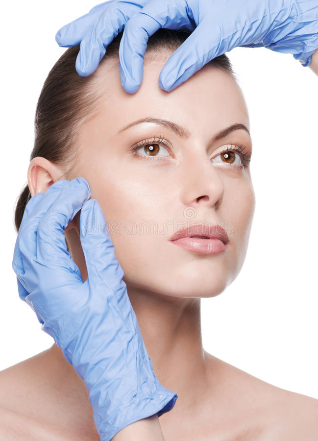 Download Beautician Touch And Exam Health Woman Face Stock Photo - Image: 20048888