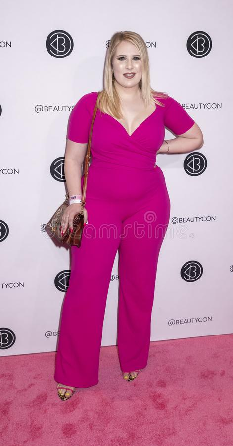 Beauticon Festival NYC 2019. New York, NY, USA - April 6, 2019: Sophie Turner attends Beautycon Festival NYC 2019 at Jacob K. Javits Convention Center, Manhattan royalty free stock images