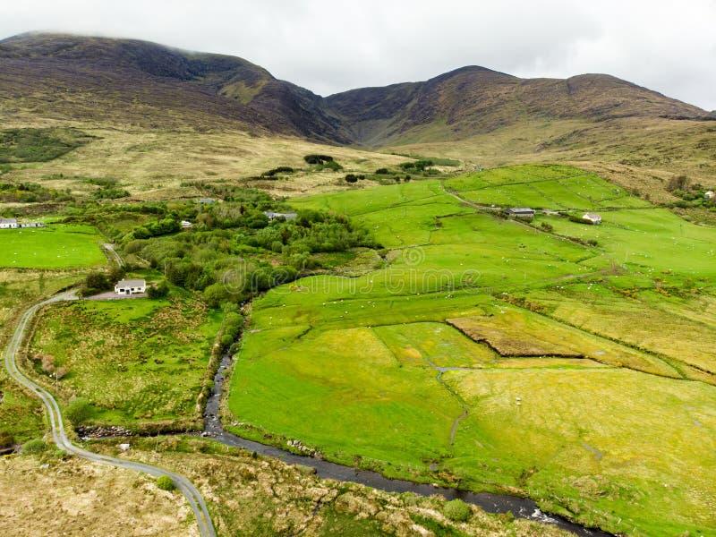 Beautidullandschap van het Nationale Park van Killarney Wandelend in Provincie Kerry, Ierland stock afbeeldingen