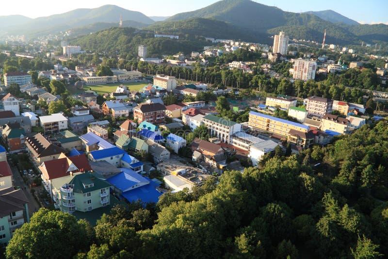Beauties och green nature i staden Sochi