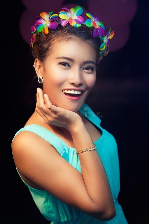 Beautifil młoda tajlandzka kobieta obraz royalty free