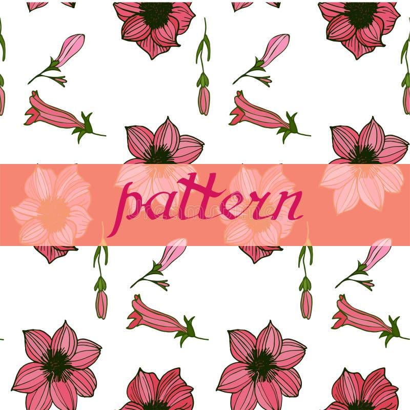Beautifil naadloos bloemenpatroon Bloemen vectorillustratie royalty-vrije illustratie