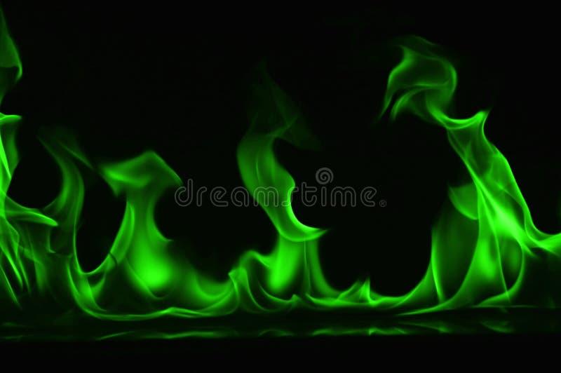 Beautifu gräsplanbrand flammar på en svart bakgrund arkivfoto