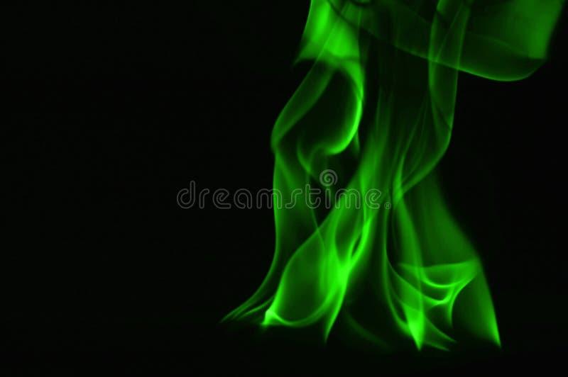 Beautifu gräsplanbrand flammar på en svart bakgrund arkivbild