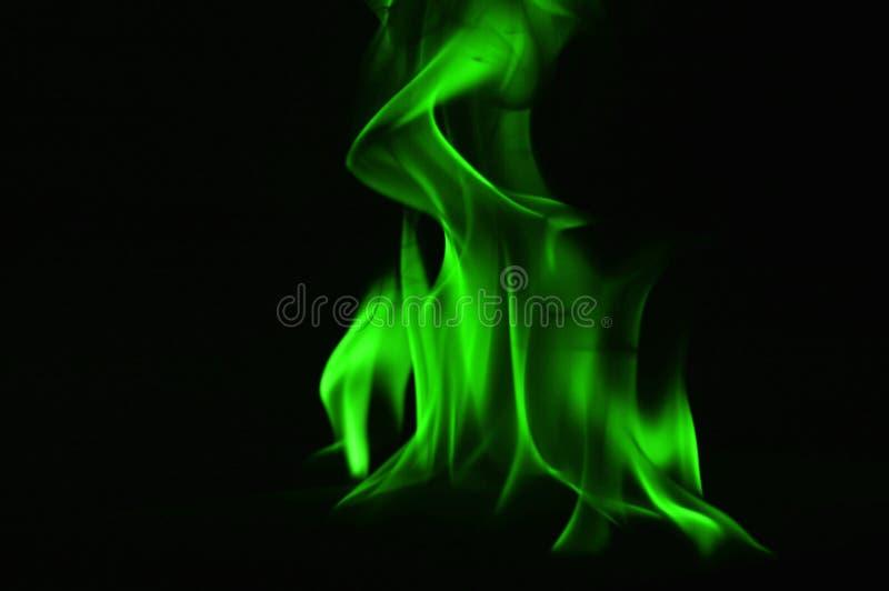 Beautifu gräsplanbrand flammar på en svart bakgrund fotografering för bildbyråer