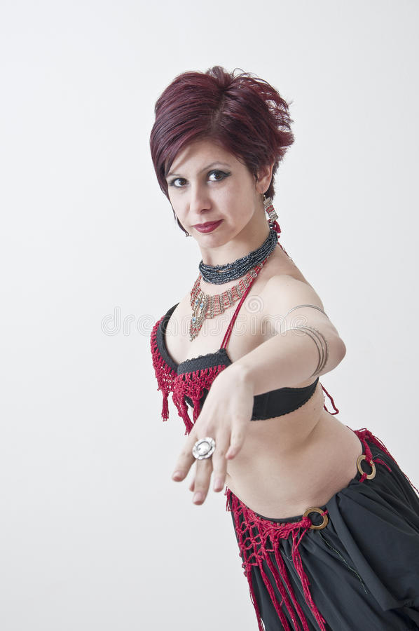 Beautifu tribal belly dancer