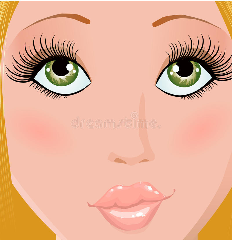 Download Beautiful stock vector. Image of hairdress, girl, hair - 11011499
