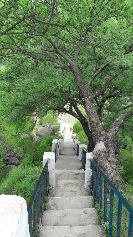 Beautiful View , Kashmir Pakistan. Beautiful View Point Kashmir Pakistan , Going Down step by step stock photo