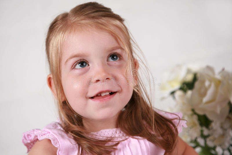 Beautiful 2 year old girl stock photography