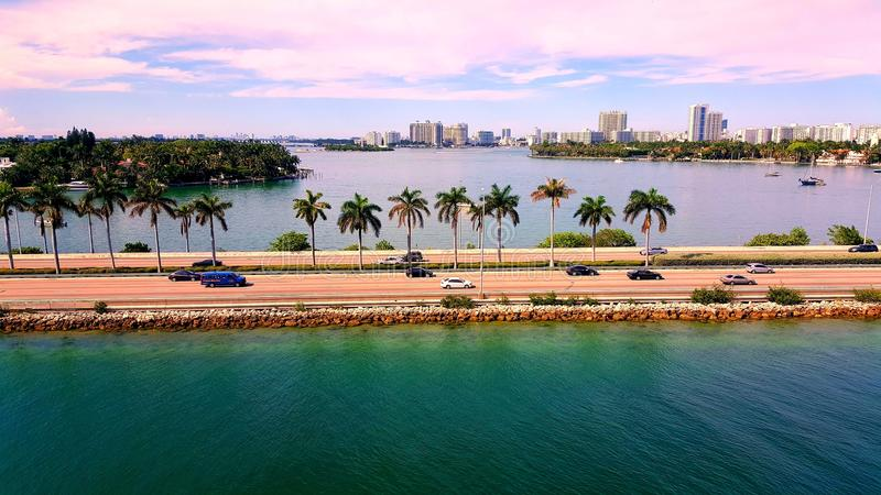 Miami Drive royalty free stock images