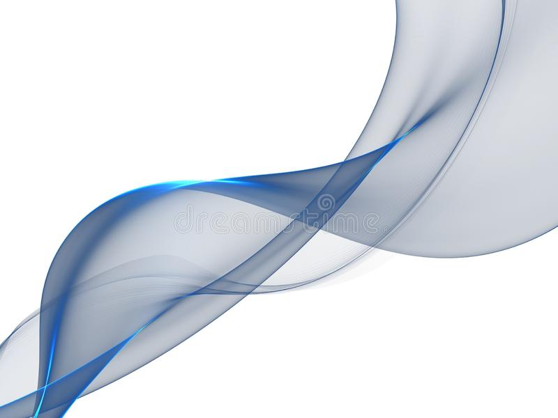 Abstract background, blue transparent waved lines royalty free illustration