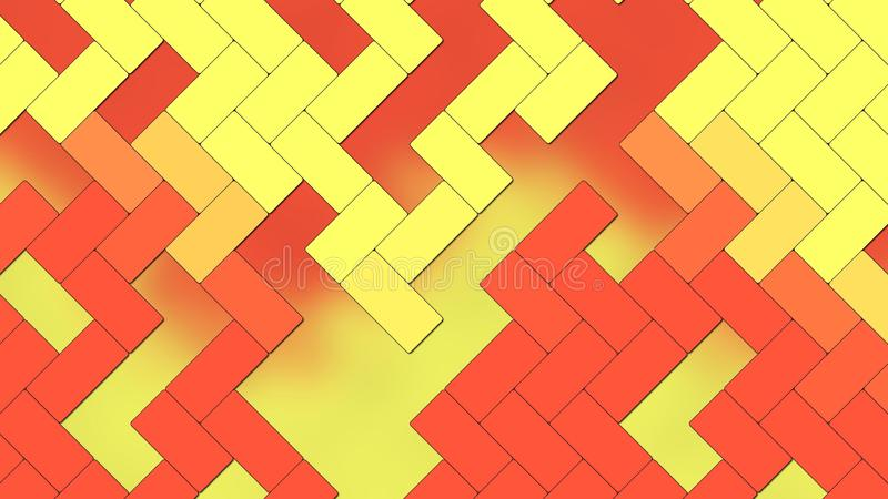 Beautiful Abstract Background - geometric texture rectangles - Yellow Red Fire color. An Illustration Beautiful Abstract Background - geometric texture stock illustration
