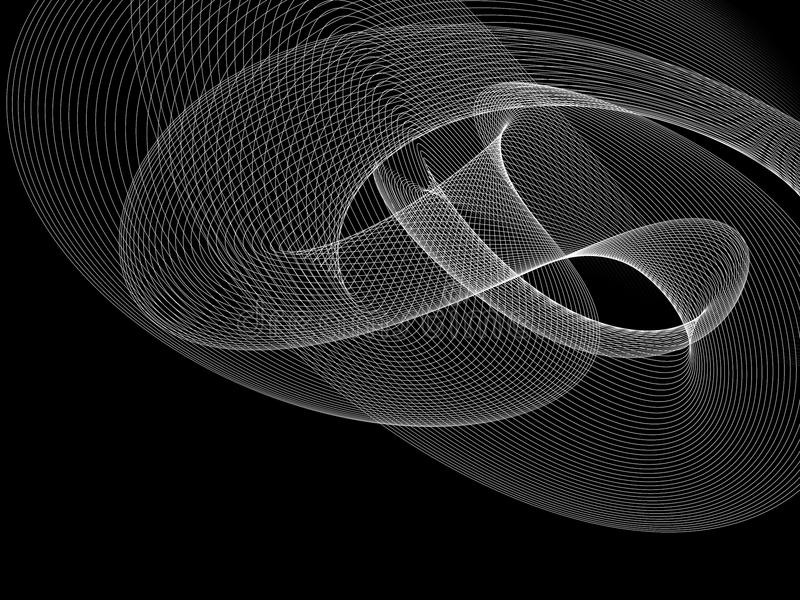 Abstract Black And White Grid Wave Background. Beautiful Abstract Black And White Grid Wave Background vector illustration