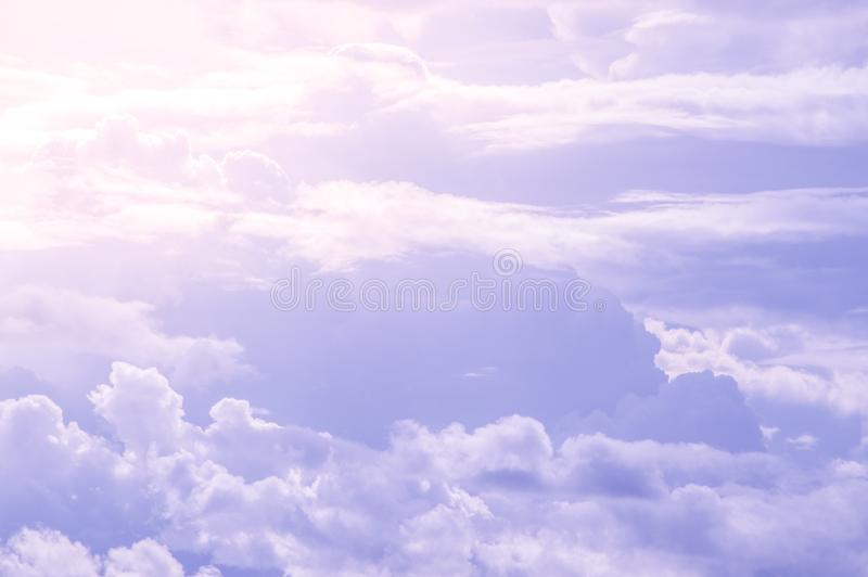 Beautiful abstract of blue sky and cloud, used as background and texture royalty free stock photo