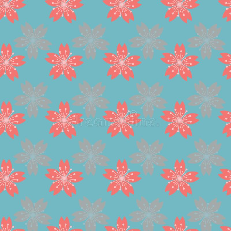 Beautiful abstract cherry blossom seamless pattern background. royalty free illustration