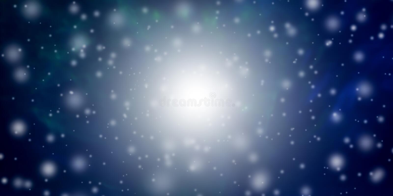 Beautiful abstract Christmas and New Year`s background with falling snow and free space for text. Beautiful abstract Christmas and New Year`s background with stock image