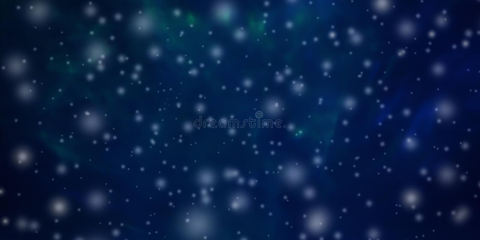 Beautiful abstract Christmas and New Year`s background with falling snow and free space for text. stock photo