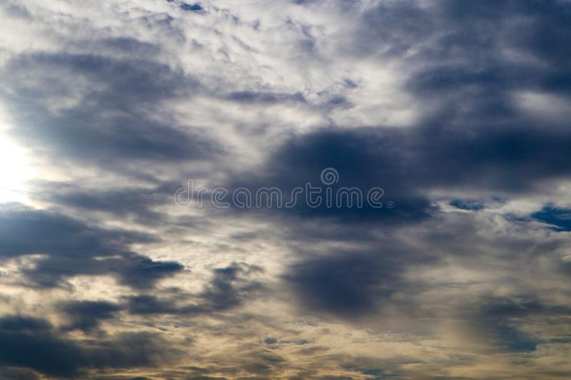 Beautiful abstract cloud and clear blue sky landscape nature background. And wallpaper stock photography