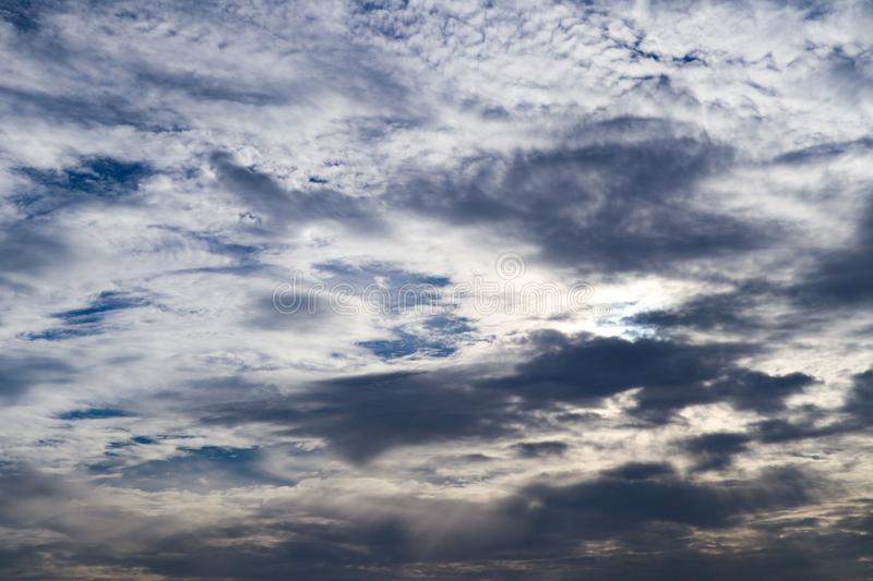 Beautiful abstract cloud and clear blue sky landscape nature background. And wallpaper royalty free stock image