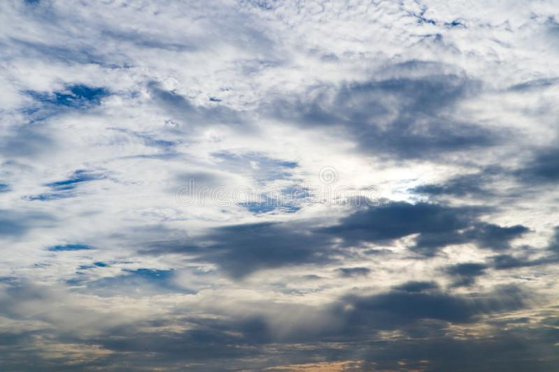 Beautiful abstract cloud and clear blue sky landscape nature background. And wallpaper royalty free stock images