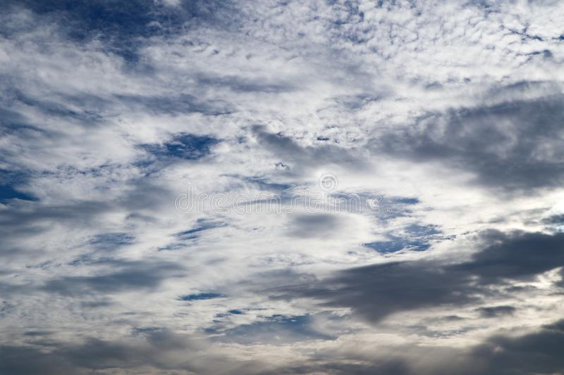 Beautiful abstract cloud and clear blue sky landscape nature background. And wallpaper stock photo