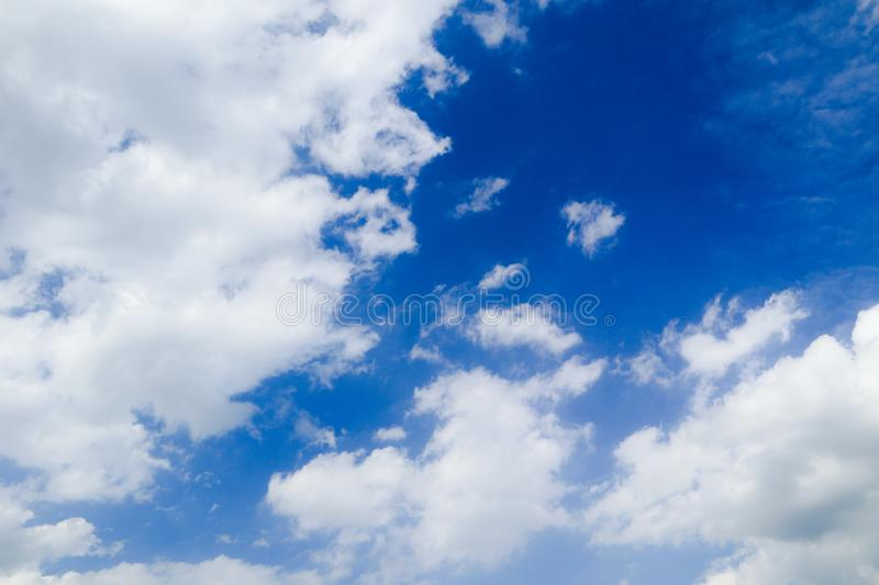 Beautiful abstract cloud and clear blue sky landscape nature background and wallpaper.  royalty free stock photo