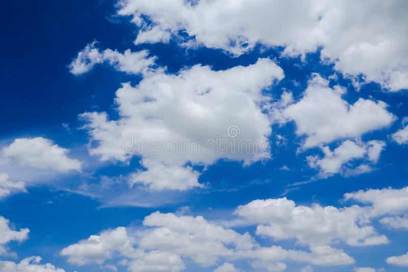 Beautiful abstract cloud and clear blue sky landscape nature background and wallpaper.  royalty free stock images