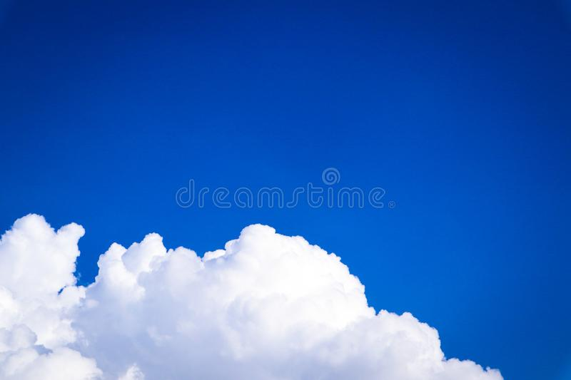 Beautiful abstract cloud and clear blue sky landscape nature background and wallpaper.  stock photo