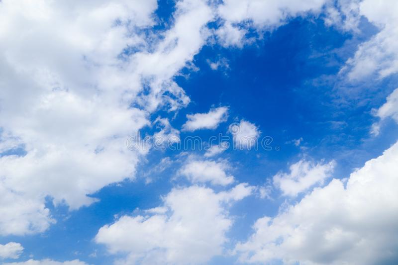Beautiful abstract cloud and clear blue sky landscape nature background and wallpaper.  royalty free stock photos