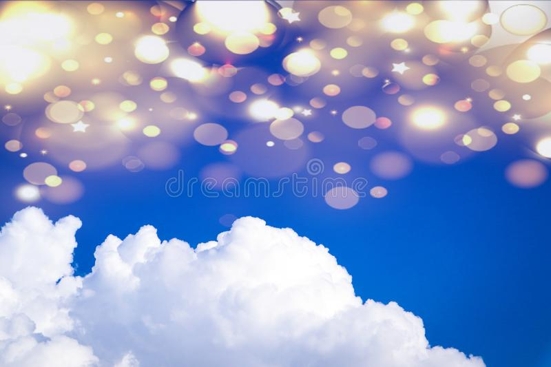Beautiful abstract cloud and clear blue sky landscape nature background and wallpaper.  stock image