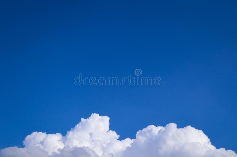Beautiful abstract cloud and clear blue sky landscape nature background and wallpaper.  stock photos