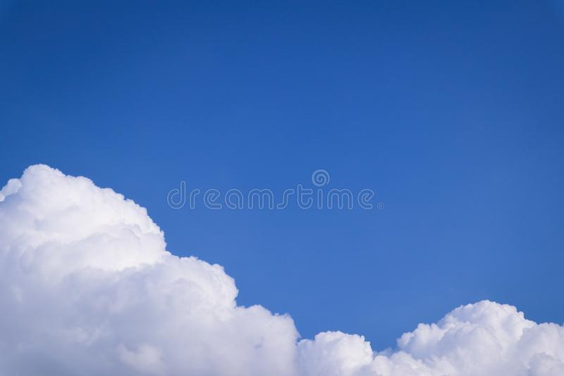 Beautiful abstract cloud and clear blue sky landscape nature background and wallpaper.  royalty free stock image