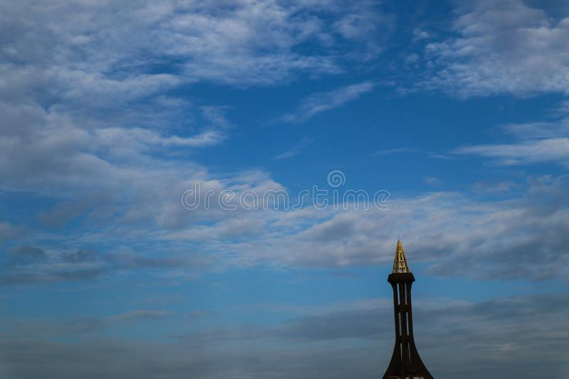 Beautiful abstract cloud and clear blue sky landscape nature background. And wallpaper royalty free stock photos
