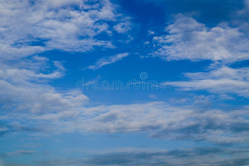 Beautiful abstract cloud and clear blue sky landscape nature background. And wallpaper stock photos
